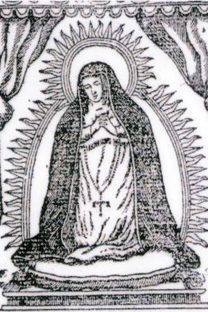 Virgen de los Dolores. Estampa Septenario Cultos 1809