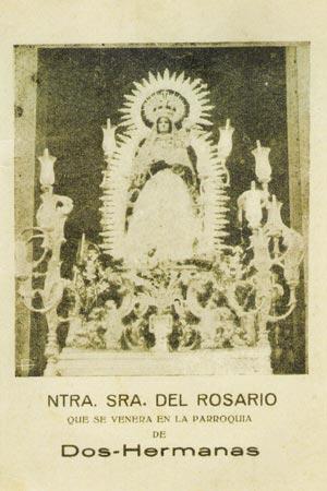 Virgen del Rosario. Paso de 1910