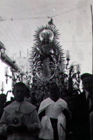 Procesión de la Virgen del Rosario. Primer tercio s. XX
